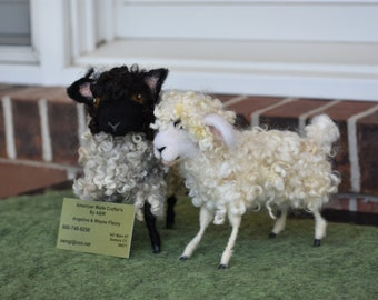 Wool Felted Sheep and Lamb
