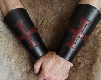 Kinghts Templar Leather Bracers