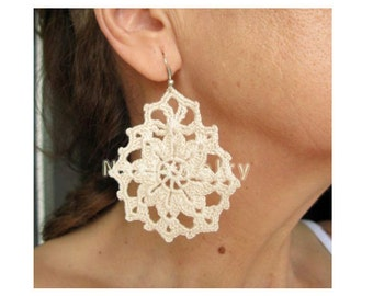 PDF Tutorial Crochet  Two Designs (2 in 1)  Earrings Pattern