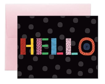 Geo Hello Greeting Card