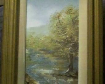 landscape - oil on canvas, Jo Ann Wright
