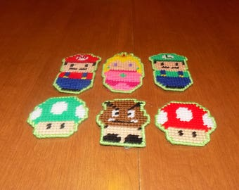 Mario brothers chibi magnets
