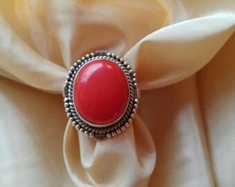 Large Carnelian Boho Ring Statement Ring NBJ102 ~  Gift Wrapped