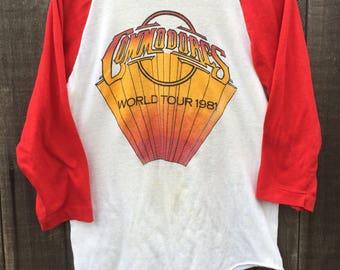 Rare 1981 The Commodores World Tour Tee Mens Size XS Lionel Richie