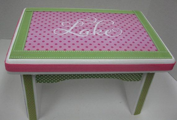 Sgabello legno robusto sgabello passo rosa e verde
