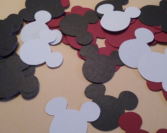Mickey Mouse Confetti- Mickey Mouse Birthday Head Icon Confetti - Mickey Mouse Birthday- Mickey Mouse Baby Shower