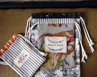 Reusable Gift Bag- Reusable Gift Bag Set - Reusable Bags - Drawstring Bag - Drawstring Gift Bag - Drawstring Bag Set - Fabric Gift Bags
