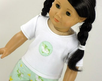 18 Inch Doll Clothes -- Pajama T-Shirt and Shorts -- 2 Piece Outfit (3-19)