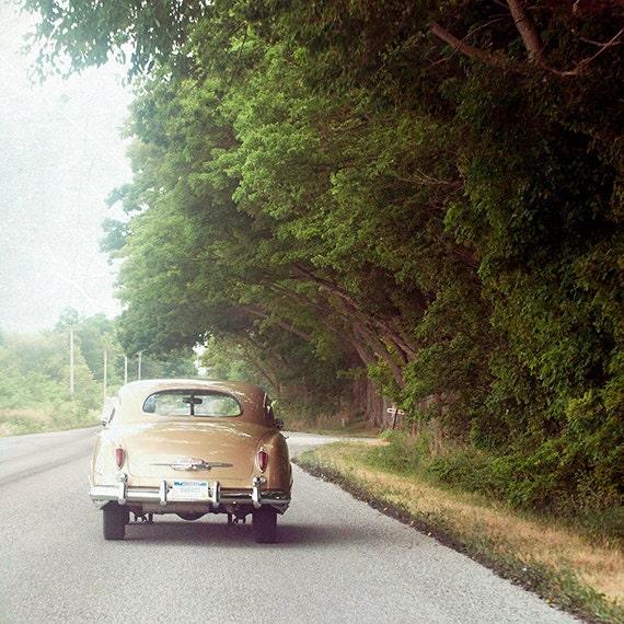 Fine Art Photo, Classic Retro Car, Summer, Road Trip, Wall Art, Vintage Look Photography print