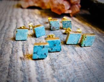 Turquoise Studs Earrings,Turquoise Studs,Stud Earrings,Turquoise Earrings Gold,Turquoise Stud Earrings,Turquoise,Turquoise Jewelry, Studs