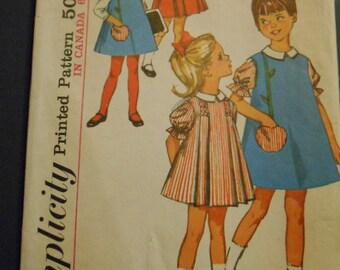Simplicity 5811, Child Dress, Size 6, Smocked