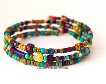 Beaded Bracelet | Handmade Bracelet | Boho Bracelet | Bohemian Picasso Bracelet