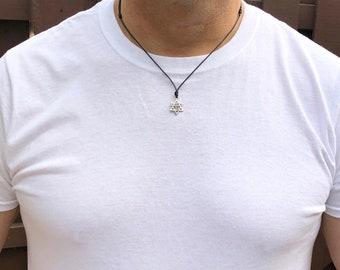 Mens Star of David Necklace Mens Chai Necklace hanukah Jewelry Mens Jewish Jewelry Judaica Jewelry Hebrew Jewelry for Men Boyfriend Gift