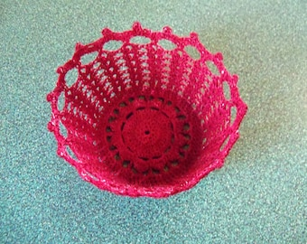 Mini basket--in burgundy