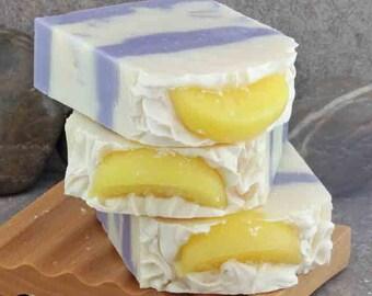 Lemon and Lavender BIG Coconut Milk Artisan Soap Bars