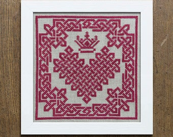 Croí Cheilteach - A Celtic Heart, Instant Download Cross Stitch PDF pattern booklet