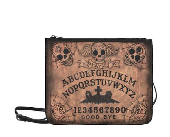 Sugar Skull Ouija Clutch with Shoulder Strap
