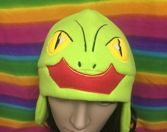 Pokemon Treecko Fleece Earflap Beanie Cap Hat