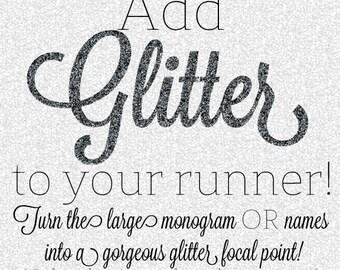 Add GLITTER to Your Custom Aisle Runner