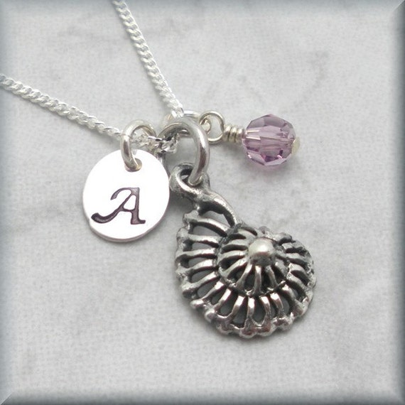 Make Your Own Seashell Jewelry: Sea Shell Necklace Seashell Personalized Initial Charm