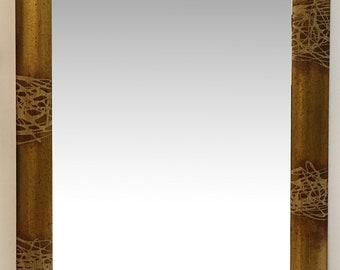 Mirror whole picture frame Bombatona gold splashed bronze, cm84x151