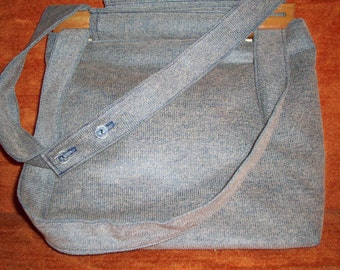 dusty blue/grey corduroy purse