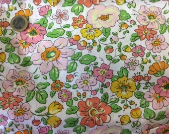 High quality cotton poplin, Twill effect,  floral print
