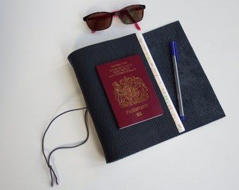 France Travel Journal Notebook Diary, Custom Map Journal, Travel Holiday Notebook, Travel Gift Scrapbook, leather Wedding Anniversary,