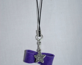 Jewelry wearable purple bow