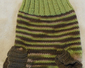 Hand knit 100% wool diaper cover