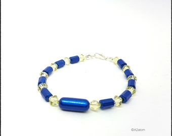 Blue women bracelet