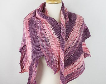 Light Weight Shawl in Pink and Purple