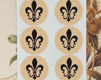 Stickers Fleur de lis Mardi Gras Wedding Birthday Party Favor Treat Bag Sticker SP038