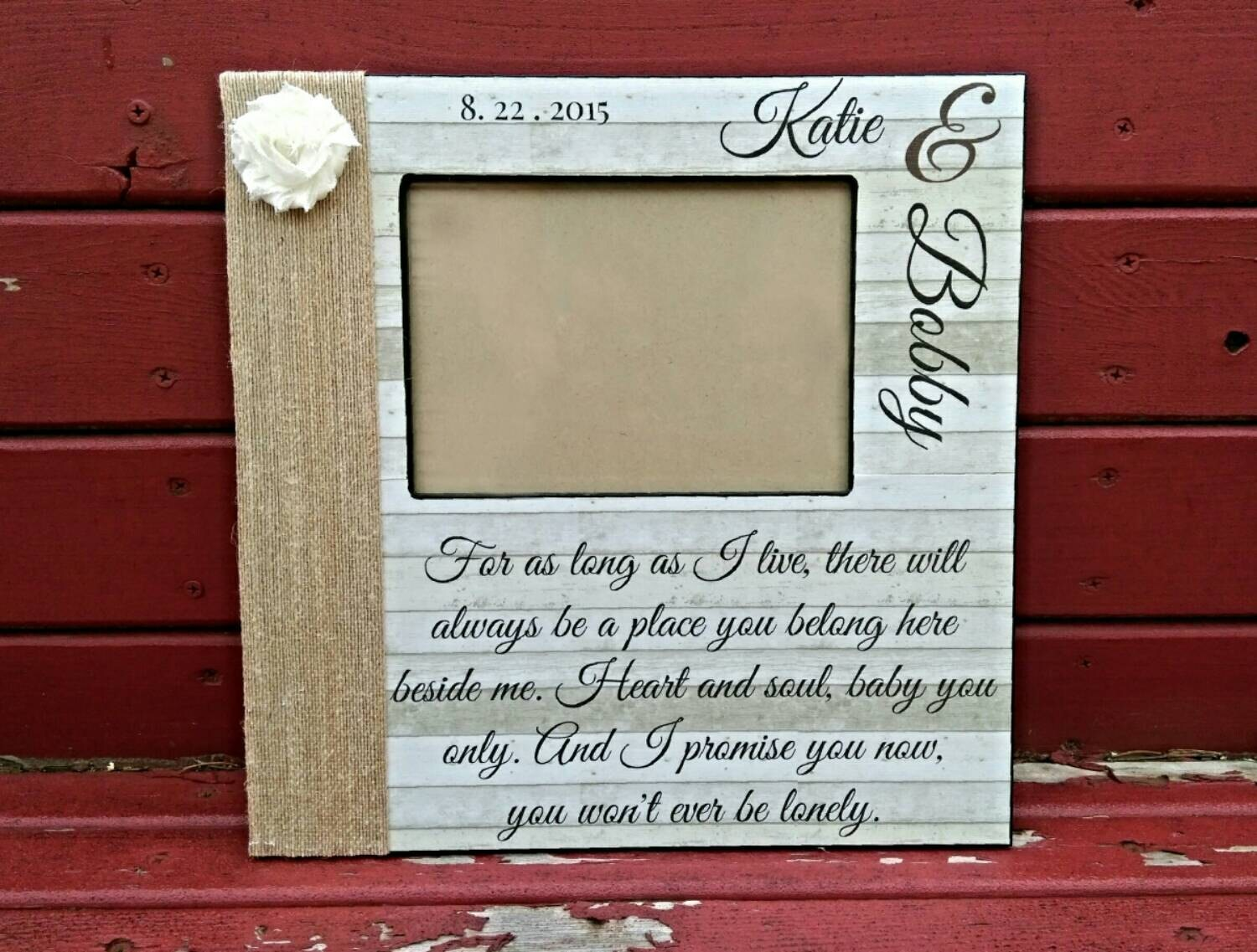 Personalized song lyric picture frame wedding song picture zoom jeuxipadfo Gallery