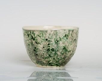GREENTINA - Porcelain bowl, unique, handmade, OOAK