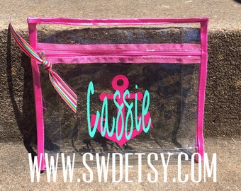 Wet Bikini Bag, Personalized Bag, Beach Bachelorette, Monogrammed Bag, Bridesmaid Gift, Bachelorette Gift, Hostess Gift, Bachelorette Party