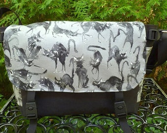 Black Cat Messenger Bag, Diaper Bag, Sebastian Ghastlie, Project Bag, Zelda Deluxe
