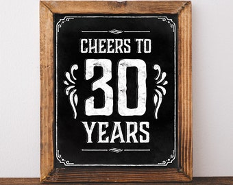 40th birthday decoration Printable Birthday party decor