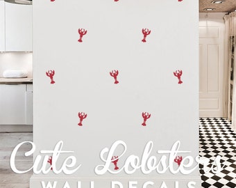 Cute Lobsters Wall Decal Pack, Vinyl Wall Sticker Decal Art Pattern WAL-2164