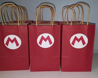 Mario party favor bags