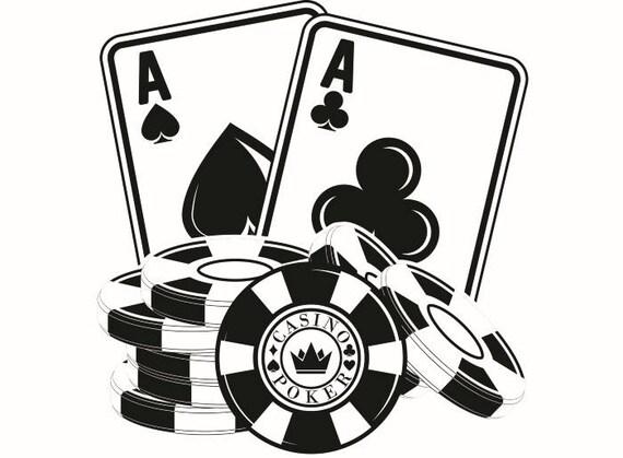 poker logo 1 chip ace texas hold em gambling casino bet rh etsy com free gambling clipart images gambling chips clipart