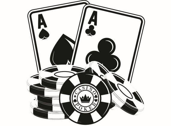 Poker Logo 1 Chip Ace Texas Hold Em Gambling Casino Bet