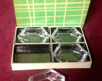 Vintage Crystal Salt Dish Set (4)