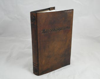Necronomicon, leather reusable A5 notebook