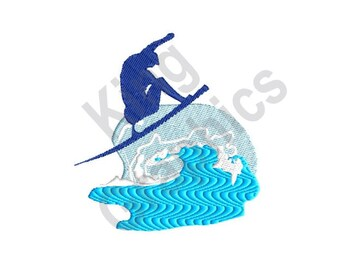 Surfing - Machine Embroidery Design