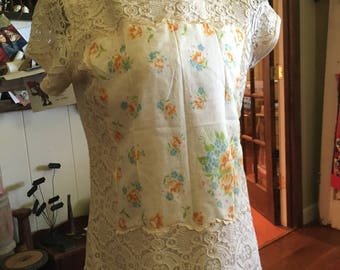 Altered lace hankie Shirt