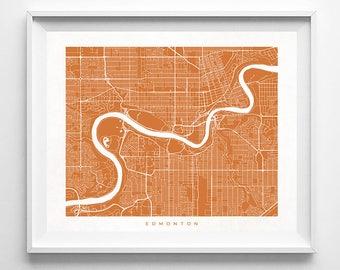 Edmonton Map, Canada Print, Canada Poster, Edmonton Art, Online Art Prints, Nursery Posters, Sale, Artwork At Home, Mothers Day Gift