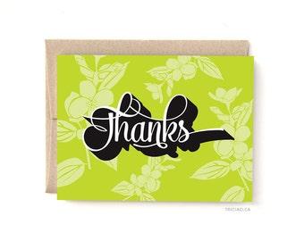 Thank You Floral Card, A2 Card