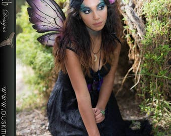 Gothic witch hat hair clip - faerie, fairy, cosplay, fascinator