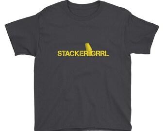 Girls' Speed Cup Stacker Short Sleeve T-Shirt
